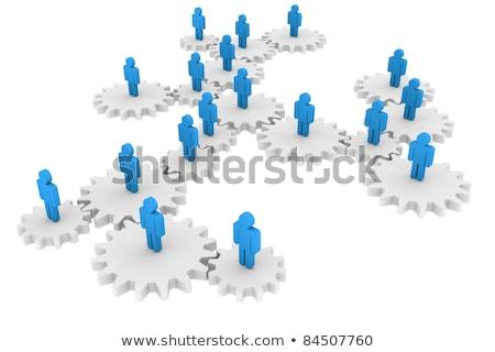 Social Network on the Cogwheels. Stock photo © tashatuvango