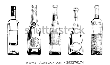 Stock Photo Vector Illustration Sketch Wine Bottle In Vintage Style Seamless Pattern
