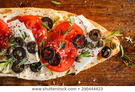 sandwich with feta and tomato stock photo © hofmeester