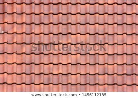 ストックフォト: 屋根 · タイル · テクスチャ · クローズアップ · 古い · 建設