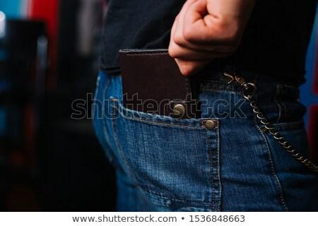 carteira · cadeias · cadeado · branco · financiar · trancar - foto stock © ajt