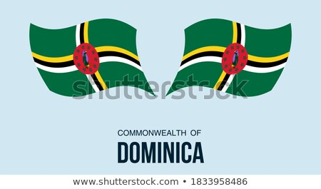 Map on flag button of Commonwealth of Dominica Stock photo © Istanbul2009