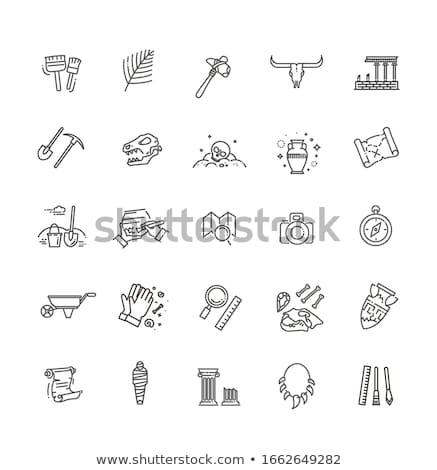 современных археология старые скрытый плитки гравий Сток-фото © Hofmeester
