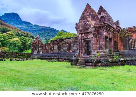 ストックフォト: 寺 · ラオス · 台無しにする · ベトナム · 戦争 · 仏