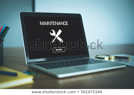 Stock photo: Mintenance Technology on the Metal Gears.