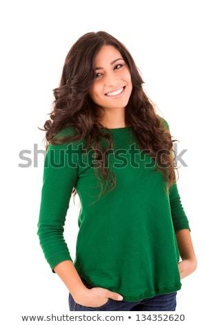 bastante · feminino · branco · isolado · cópia · espaço · mulher - foto stock © Nobilior