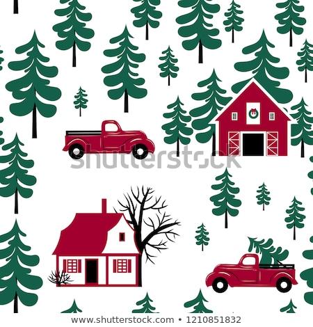 seamless retro christmas texture pattern eps 8 stock photo © beholdereye