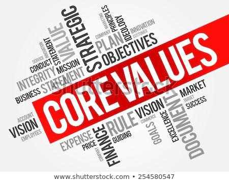 ストックフォト: Core Value Word Cloud