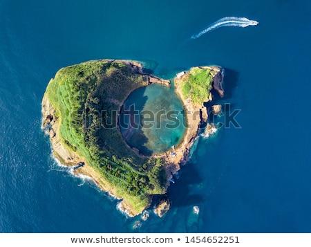 panoramic view of a volcanic island stock photo © wildnerdpix