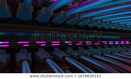 Foto stock: Rede · mudar · servidor · porta · ícone · vetor