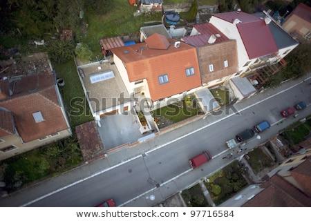 Stock fotó: Rendkívül · részletes · légifelvétel · család · házak · Csehország