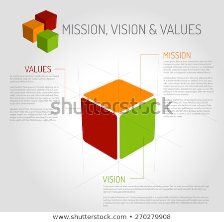 Mission vision valeurs diagramme cube vecteur Photo stock © orson