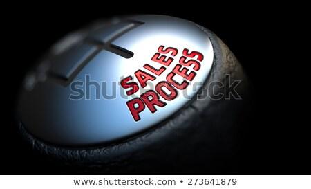 Stok fotoğraf: Satış · süreç · siyah · dişli · kırmızı · metin