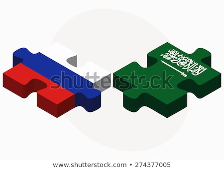 Russian Federation and Saudi Arabia Flags in puzzle Stock photo © Istanbul2009