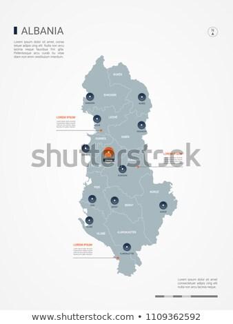 Naranja botón imagen mapas Albania forma Foto stock © mayboro