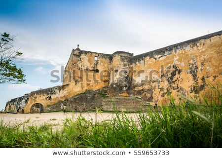 Ruins of the historical Fort Jesus Mombasa, Kenya Stock photo © master1305