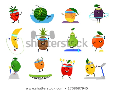Fruits sport photo sport équipement saine Photo stock © Fisher