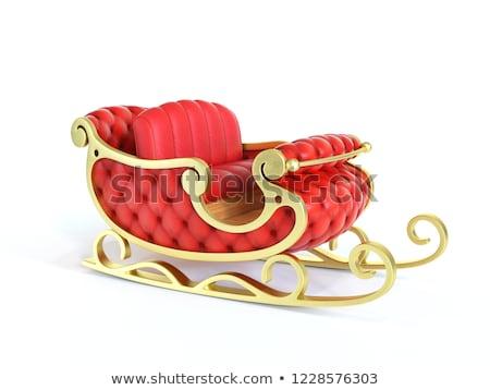 Piros arany mikulás szánkó fehér Stock fotó © wavebreak_media