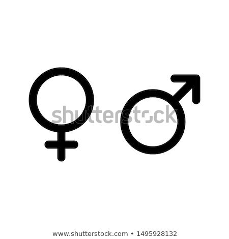 Geslacht iconen illustratie witte man kunst Stockfoto © get4net