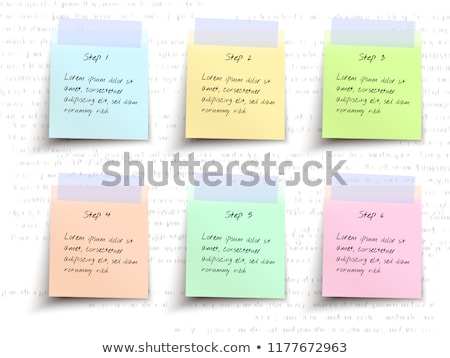 Info Green Sticky Notes Vector Icon Design Stock photo © rizwanali3d