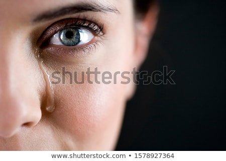 woman cry close up stock photo © fuzzbones0