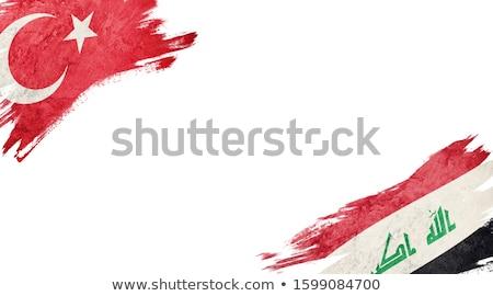 Turquia Iraque bandeiras quebra-cabeça isolado branco Foto stock © Istanbul2009