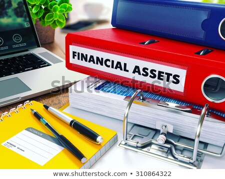 Financial Assets on Red Ring Binder. Blurred, Toned Image. Stock photo © tashatuvango