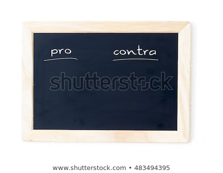 Pro an Contra message Stock photo © fuzzbones0