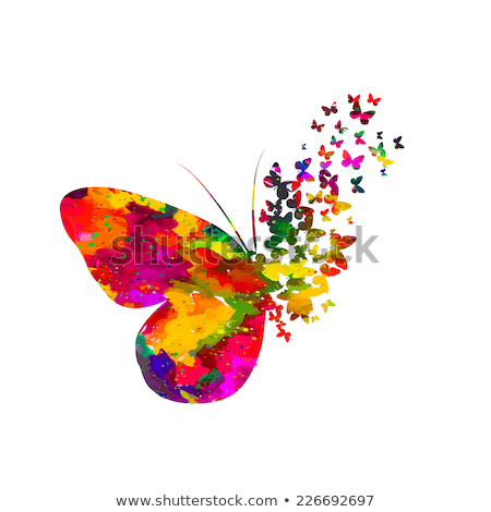 abstract butterfly card stock photo © get4net