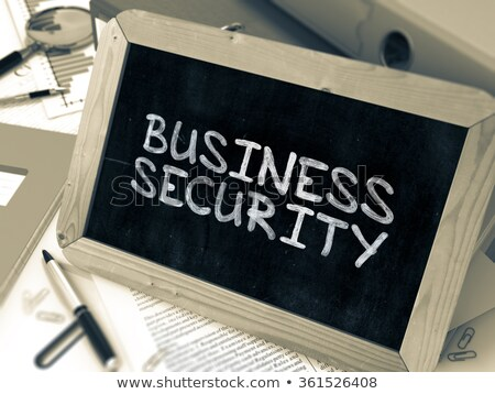 bookkeepingtop secret on ring binder blured toned image stock photo © tashatuvango