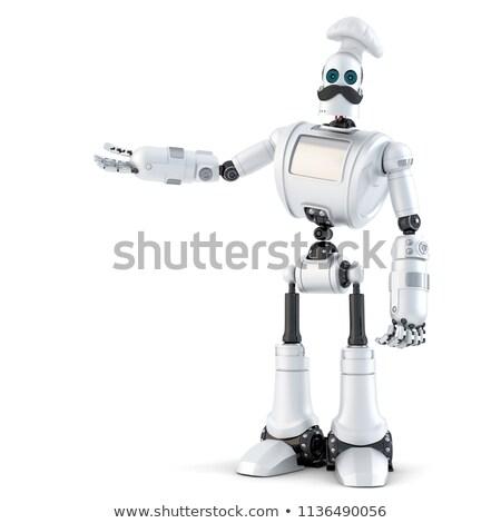 робота указывая невидимый объект изолированный Сток-фото © Kirill_M