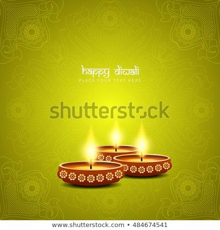 abstract artistic green diwali background Stock photo © pathakdesigner