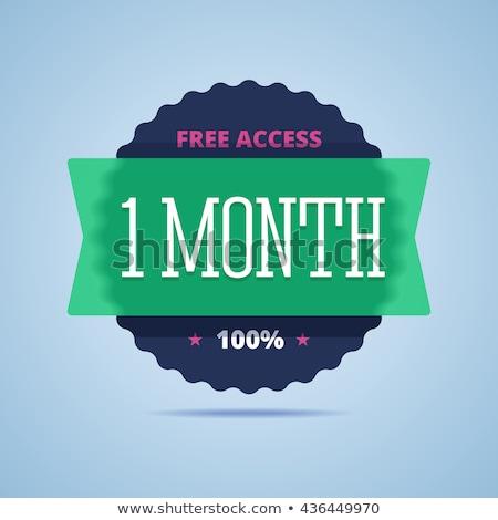 1 · mês · oferecer · verde · vetor · ícone · botão - foto stock © rizwanali3d
