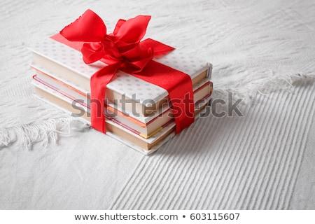 Könyv szín szalag fából készült születésnap háttér Stock fotó © teerawit