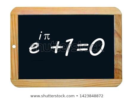 Leren geometrie schoolbord tekst Stockfoto © tashatuvango