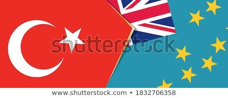 トルコ ツバル フラグ パズル 孤立した 白 ストックフォト © Istanbul2009