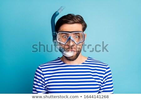 homem · snorkel · boca · praia · sol · esportes - foto stock © Paha_L