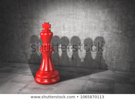 rei · do · xadrez · branco · xadrez · preto · sucesso · jogar - foto stock © grechka333