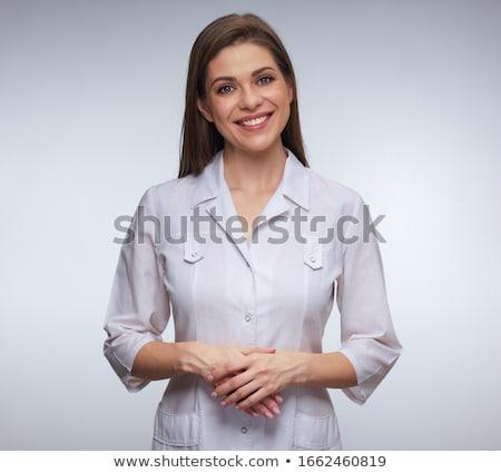 Portré nő egyenruha kék orvosi gyógyszer Stock fotó © OleksandrO