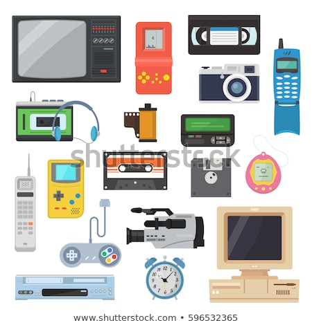 flat retro gadgets of 90s stock photo © yuriy