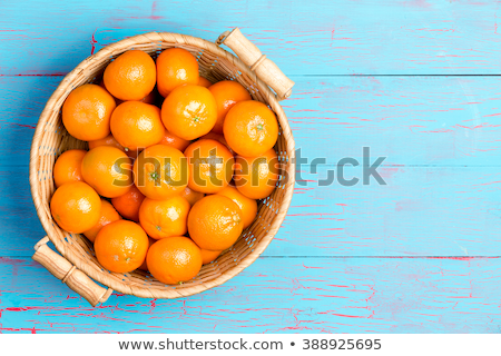 top down view of tropical fruit basket stock photo © ozgur