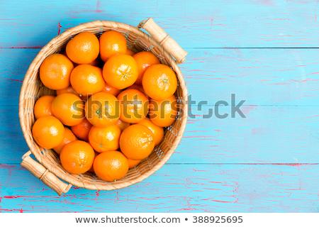 Topo para baixo ver fruta tropical cesta grande Foto stock © ozgur