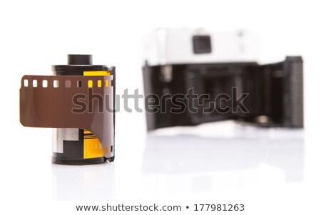 Kamery analog fotografii nowego technologii retro Zdjęcia stock © blasbike