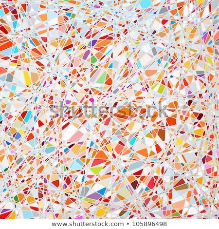 Vitray doku mor eps farklı vektör Stok fotoğraf © beholdereye