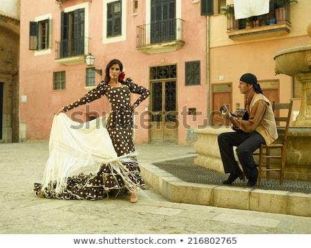 Dance музыку фламенко белый пару танцы Сток-фото © alexanderandariadna
