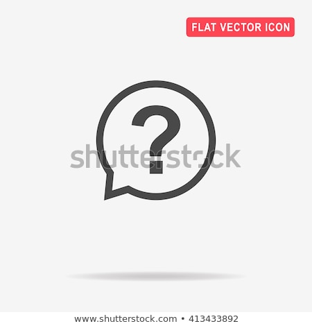 Who Icon Illustration and Vector Art stock photo © kiddaikiddee