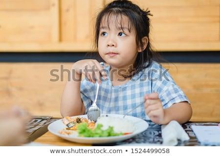fiatal · lány · vicces · arc · közelkép · fehér · arc · gyermek - stock fotó © alphaspirit