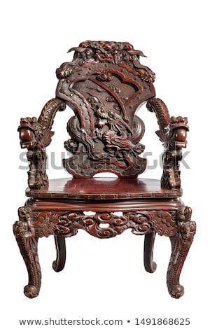 Wooden carving of dragon Stock photo © bbbar
