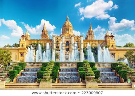 известный фонтан город синий красный белый Сток-фото © digoarpi