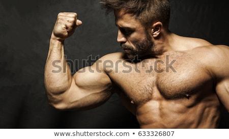 montare · muscolare · uomo · bicipiti · bianco · sexy - foto d'archivio © arenacreative